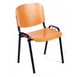 Visuel de la chaise de collectivité Comfort en bois