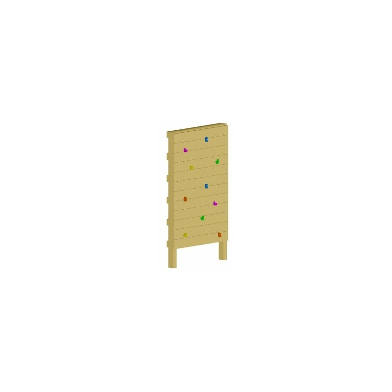 mur d 39 escalade pour le loisir des enfants. Black Bedroom Furniture Sets. Home Design Ideas