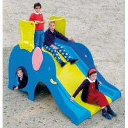 Toboggan éléphant pour aire de jeux