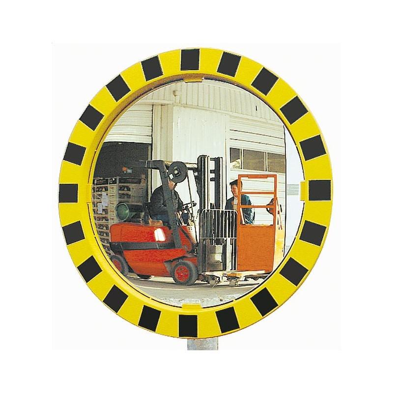 Miroirs de s curit avec cadre jaune et noir dmc direct for Miroir jaune