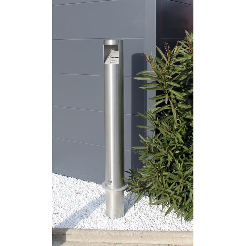 cendrier borne ext rieur en inox no 39 smoke cendrier borne. Black Bedroom Furniture Sets. Home Design Ideas