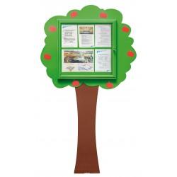 Visuel de la vitrine d'affichage extérieure en arbre