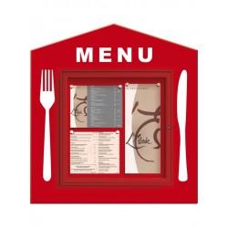 Visuel de la vitrine d'affichage pour menus