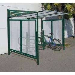 Visuel de l'abri et du range vélo Conviviale