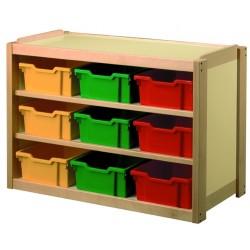 Visuel du meuble de rangement scolaire en casiers