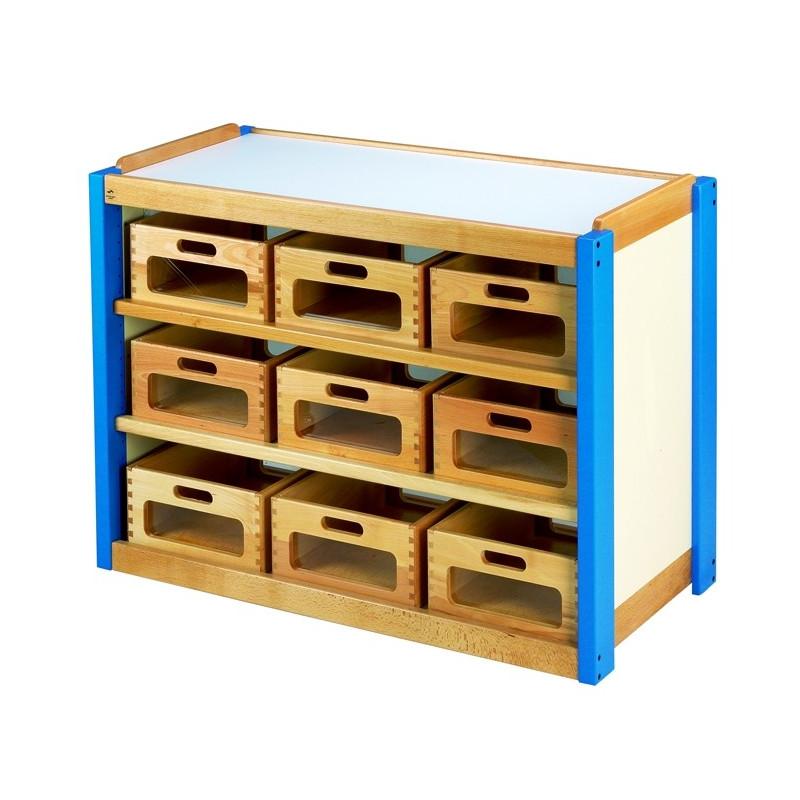 meuble casiers bois fa ades transparentes. Black Bedroom Furniture Sets. Home Design Ideas