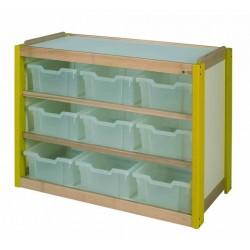 Visuel du meuble de rangement scolaire en casier