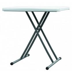 Table en polypropylène à hauteur réglable