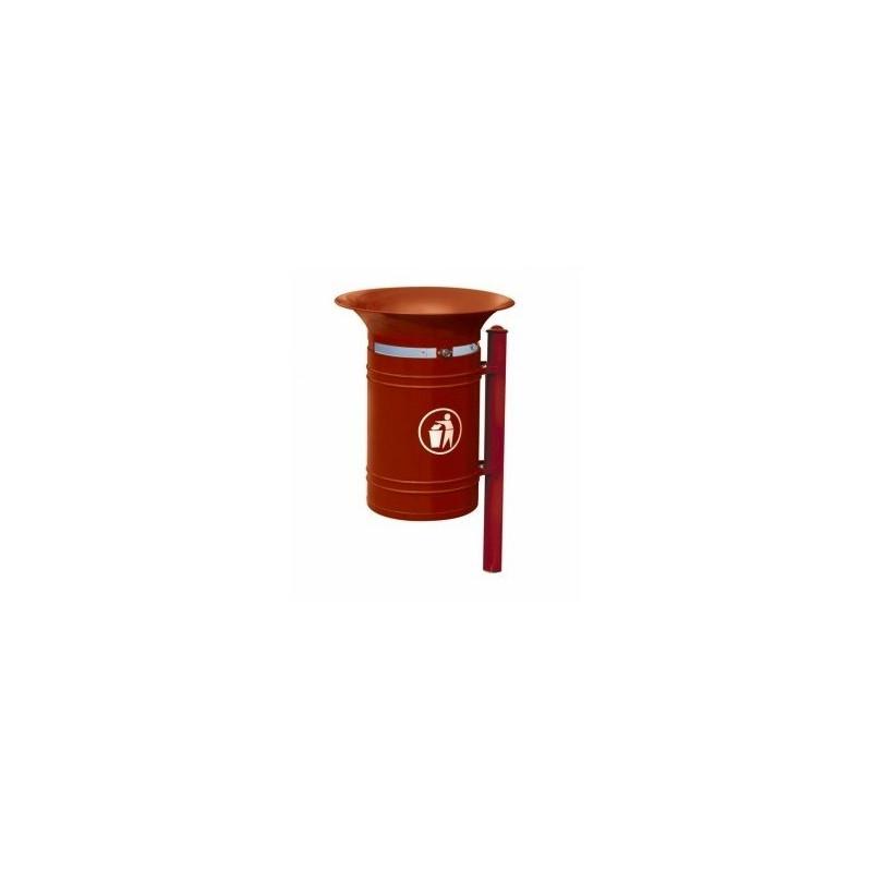 Visuel de la poubelle publique en métal Vanoise