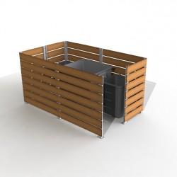 cache conteneur de poubelles plastique cache conteneur de poubelle en bois dmc direct dmc. Black Bedroom Furniture Sets. Home Design Ideas