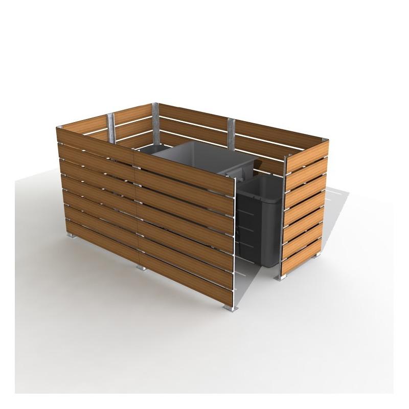 Cache conteneur poubelle en acier et stratifi cache conteneur poubelle simple dmc direct - Cache conteneur poubelle ...