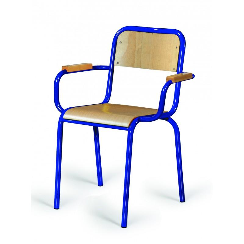 chaise d 39 instituteur en bois et m tal chaise de. Black Bedroom Furniture Sets. Home Design Ideas