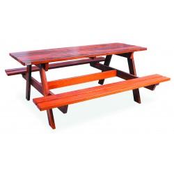 Table de pique-nique en bois exotique Exo