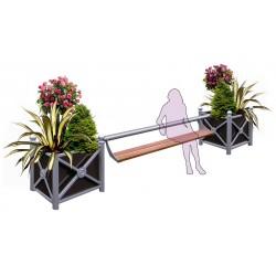 Visuel du banc public mixé à une jardinière urbaine