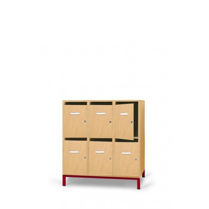 Visuel du meuble de rangement à 6 casiers pour enseignant - DMC Direct