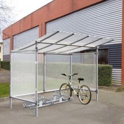 Abri vélos en aluminium (5 places)