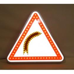 Visuel du panneau de signalisation lumineux type A1A