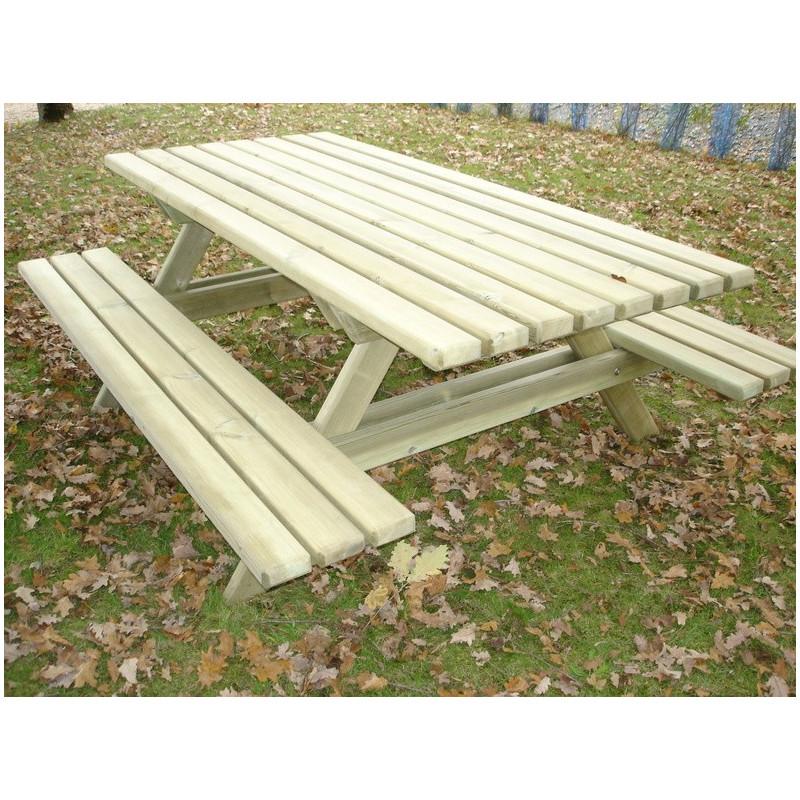 Visuel de la table de pique-nique Peuplier en bois