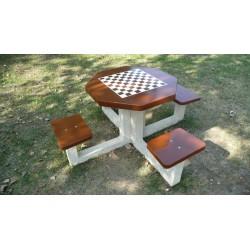Visuel de la table de jeu d'échecs