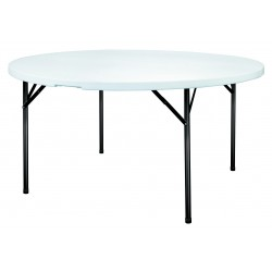Table pliable ronde en polypro