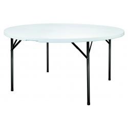Table en polypro ronde