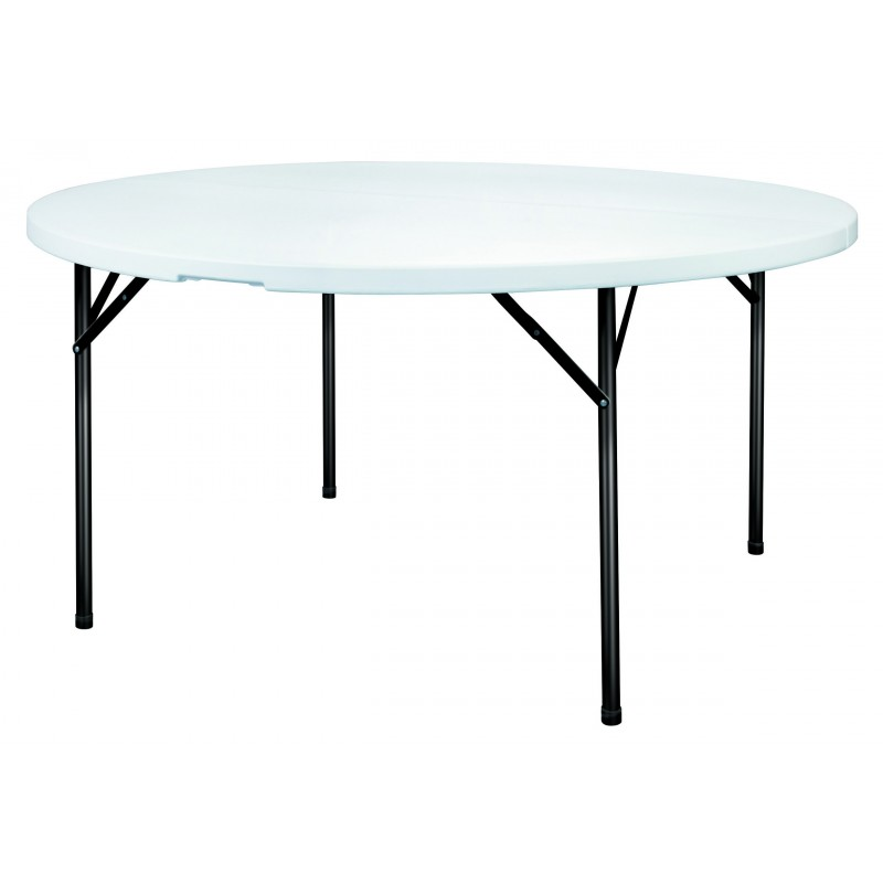 table ronde en plastique table pliable ronde table pliante ronde pour r ception. Black Bedroom Furniture Sets. Home Design Ideas