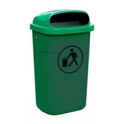 Visuel de la poubelle publique en plastique Classic 50L