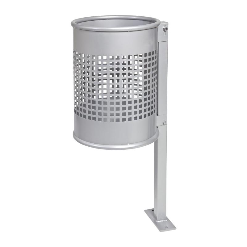 Visuel de la poubelle publique en métal Cerdanyola