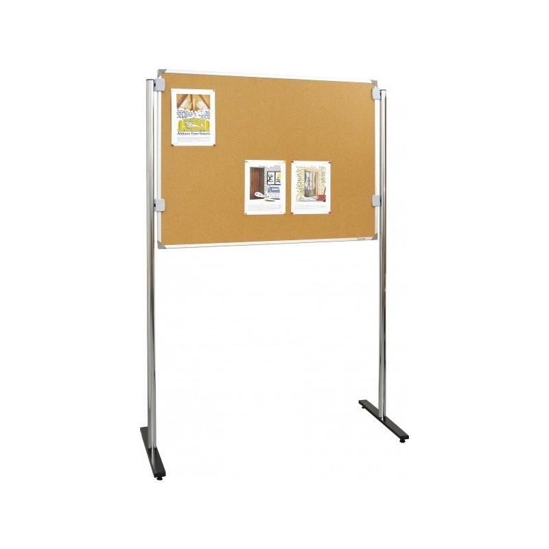 tableau d 39 affichage sur pieds fond en li ge tableau d 39 affichage sur pieds en 3 dimensions. Black Bedroom Furniture Sets. Home Design Ideas