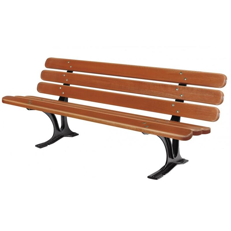 banc public s ville banc ext rieur en bois mobilier urbain dmc direct. Black Bedroom Furniture Sets. Home Design Ideas