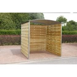Abris conteneur en bois