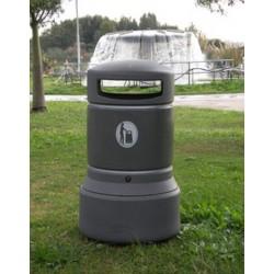 Visuel de la poubelle de collectivité en polyéthylène