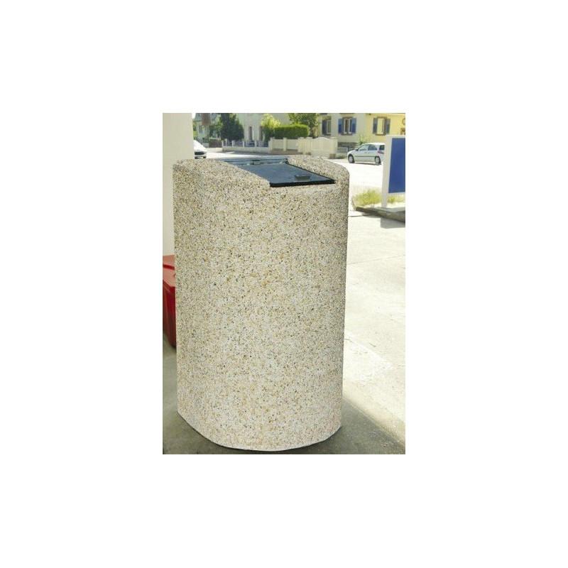 Visuel de la poubelle publique en béton