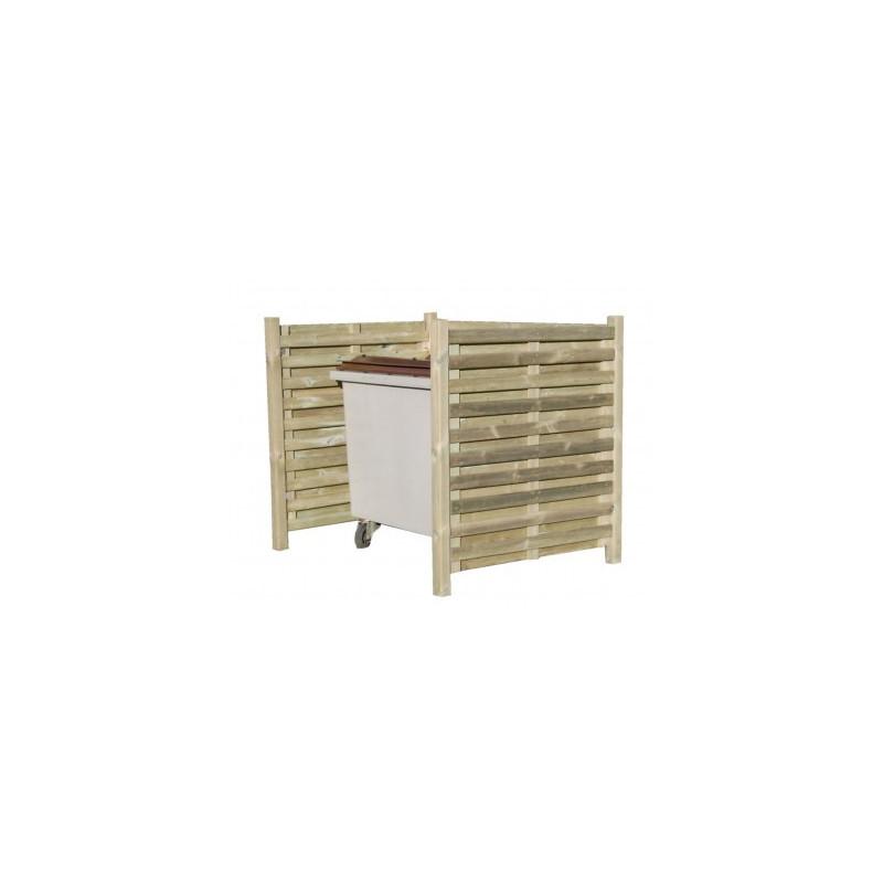 Visuel du cache poubelle simple en bois
