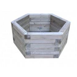 Jardinière héxagonale en bois