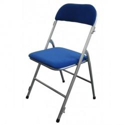 Chaise pliante en velours Bleu