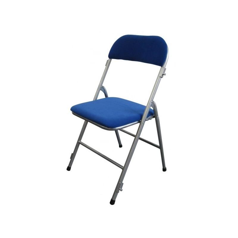Chaise pliante en velours rouge ou bleu chaise pliante en for Chaise pliante interieur