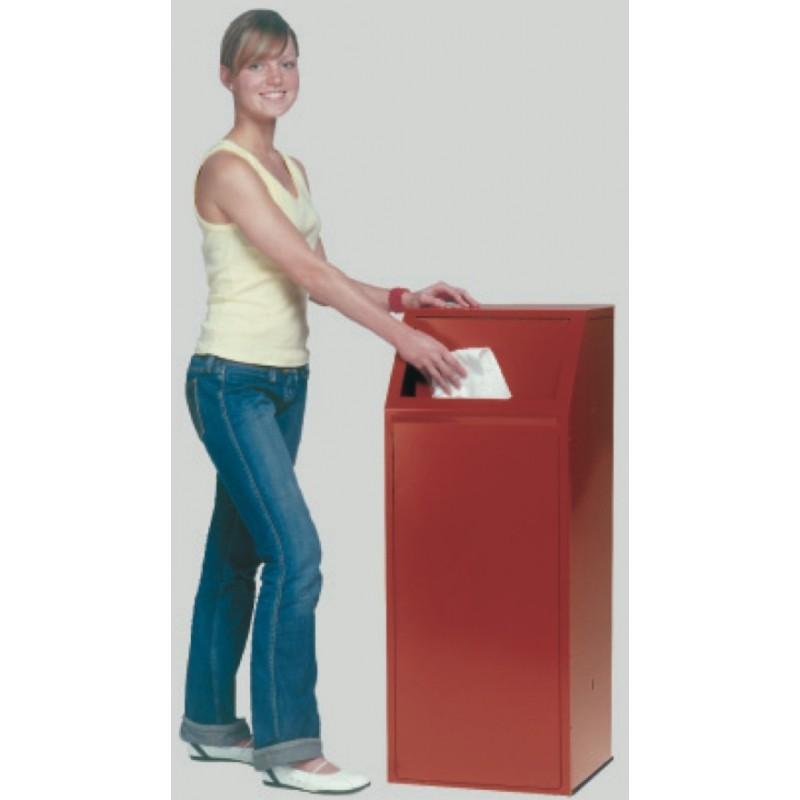 poubelle pour tri s lectif en acier galvanis poubelle. Black Bedroom Furniture Sets. Home Design Ideas