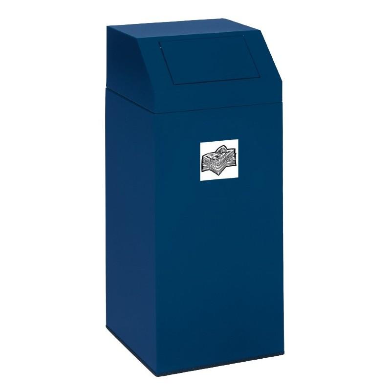 conteneur pour tri s lectif en acier galvanis conteneur pour tri s lectif 45l ou 76l. Black Bedroom Furniture Sets. Home Design Ideas