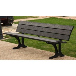 Banc public en plastique recyclé Alliance