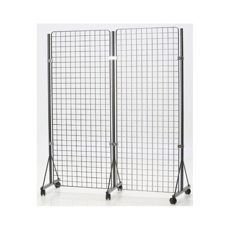 grille d 39 exposition sur roulettes dmc direct. Black Bedroom Furniture Sets. Home Design Ideas
