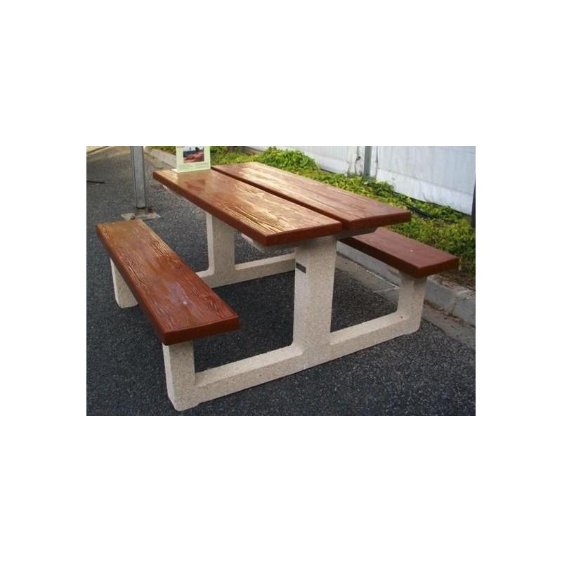 mobilier urbain en b ton table pique nique en b ton. Black Bedroom Furniture Sets. Home Design Ideas