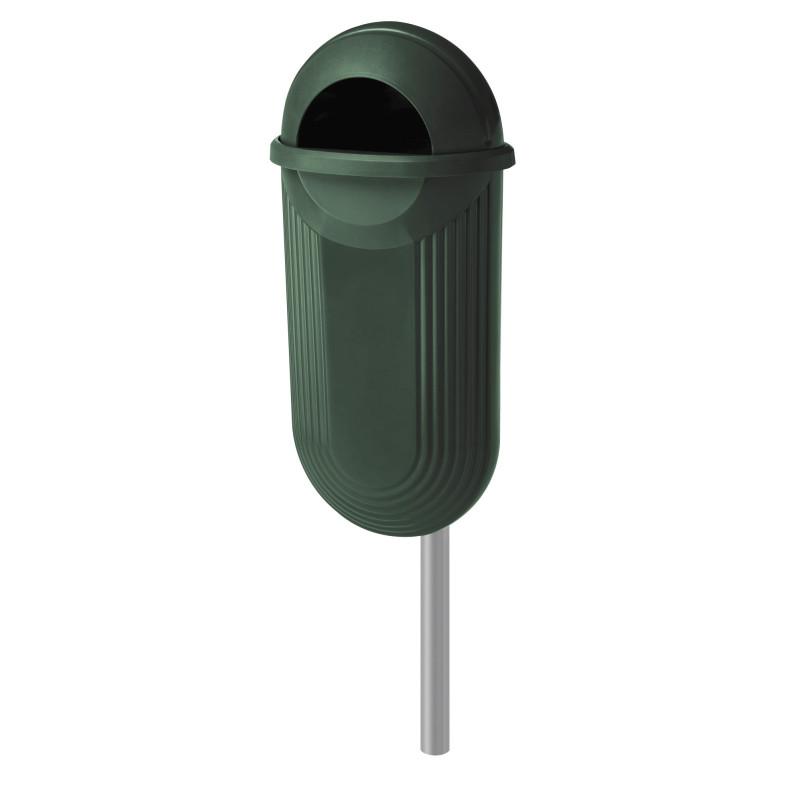 Visuel de la poubelle publique Strada en plastique