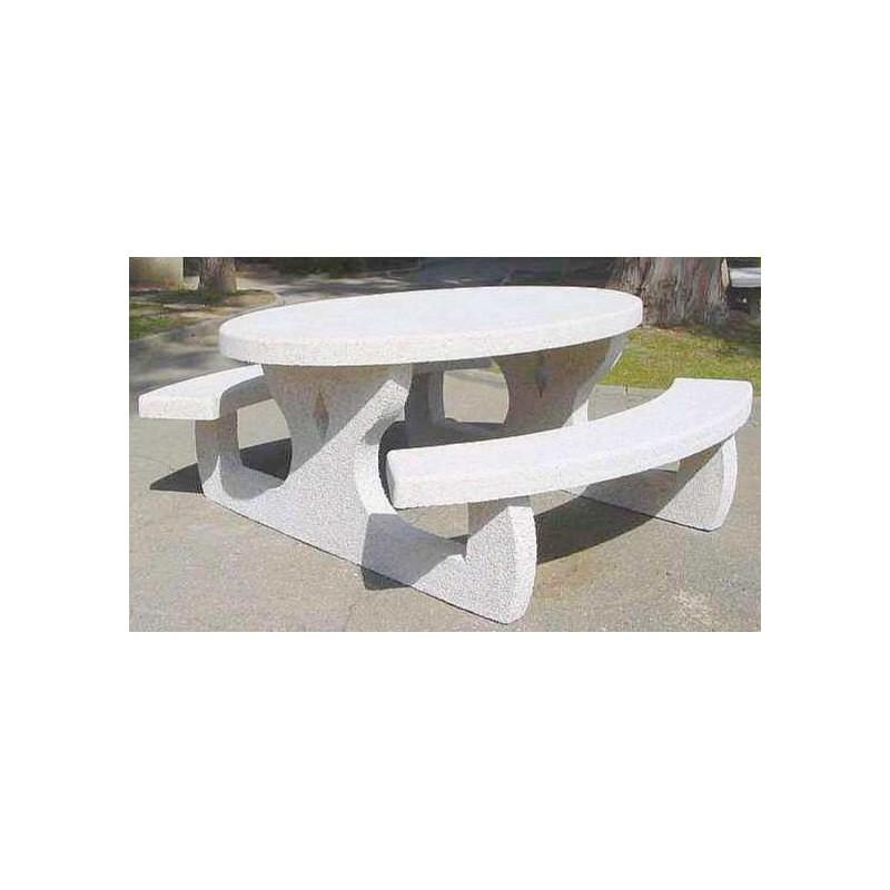 Table de pique-nique en béton, table en béton pour extérieur, table ...