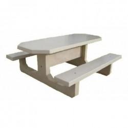 Table Pic-Nic octogonale en béton armé