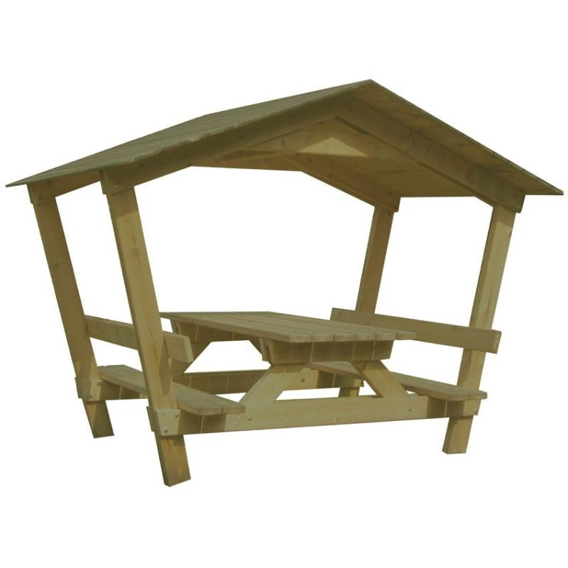 Visuel de la table de pique-nique avec abri