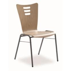 Chaise de réunion en bois