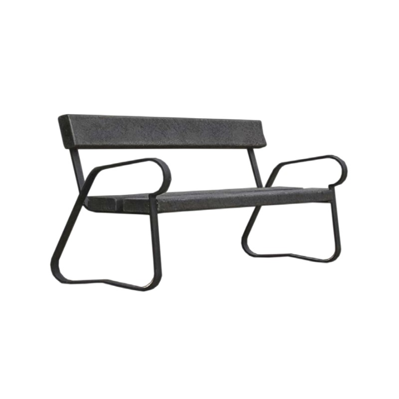 banc urbain en plastique recycl banc public en plastique. Black Bedroom Furniture Sets. Home Design Ideas