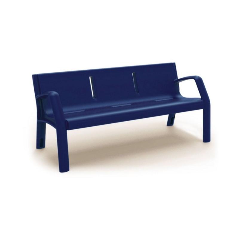 Banc ext rieur en plastique mobilier urbain dmc direct - Matelas pour banc exterieur ...