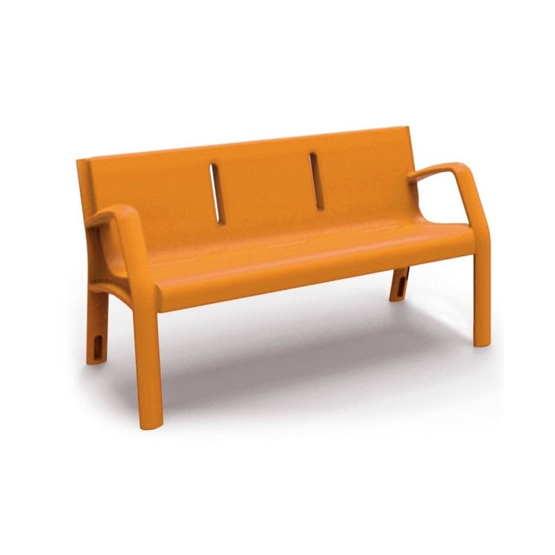 Banc ext rieur en plastique mobilier urbain dmc direct - Dalle en plastique pour exterieur ...